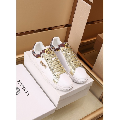 Versace Casual Shoes For Men #867561 $85.00 USD, Wholesale Replica Versace Casual Shoes