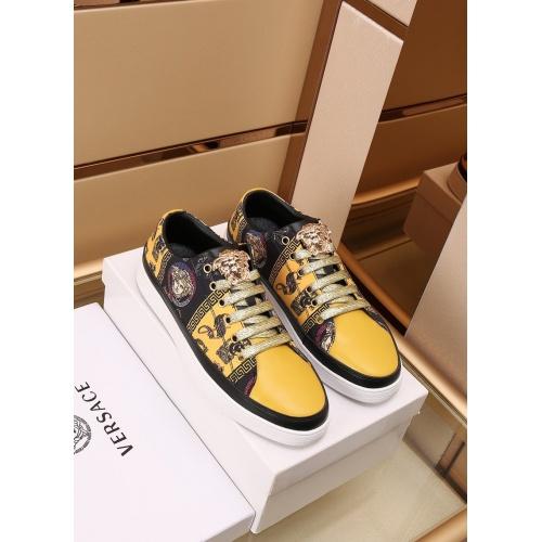 Versace Casual Shoes For Men #867655 $85.00 USD, Wholesale Replica Versace Casual Shoes