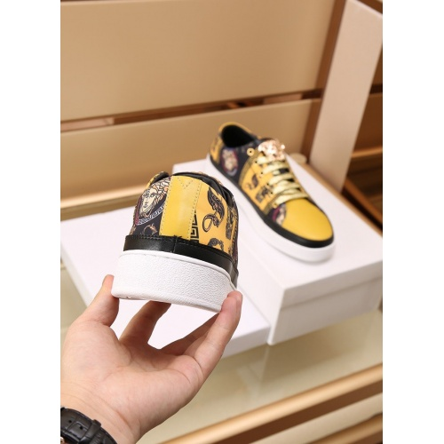 Replica Versace Casual Shoes For Men #867655 $85.00 USD for Wholesale