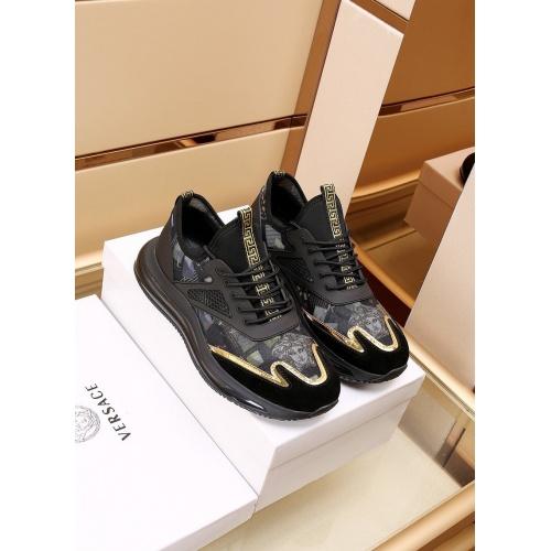 Versace Casual Shoes For Men #867659 $88.00 USD, Wholesale Replica Versace Casual Shoes
