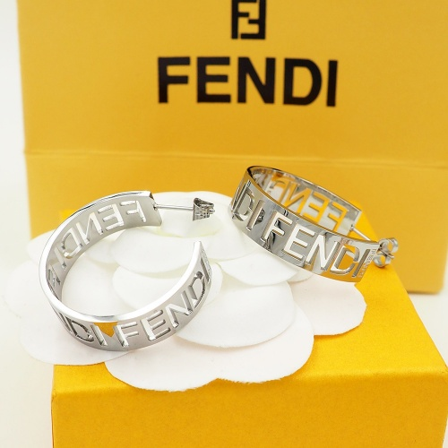 Fendi Earrings #867777 $25.00 USD, Wholesale Replica Fendi Earrings