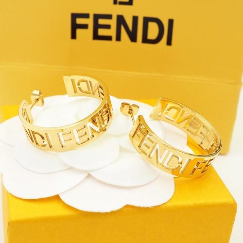 Fendi Earrings #867778 $25.00 USD, Wholesale Replica Fendi Earrings