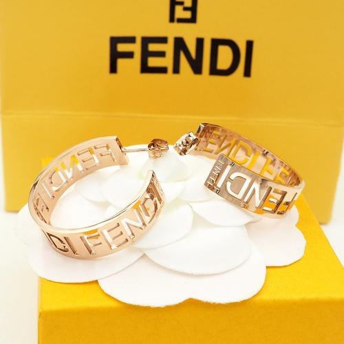 Fendi Earrings #867779 $25.00 USD, Wholesale Replica Fendi Earrings