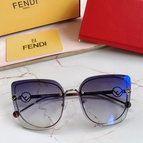 Fendi AAA Quality Sunglasses #867879 $48.00 USD, Wholesale Replica Fendi AAA Sunglasses