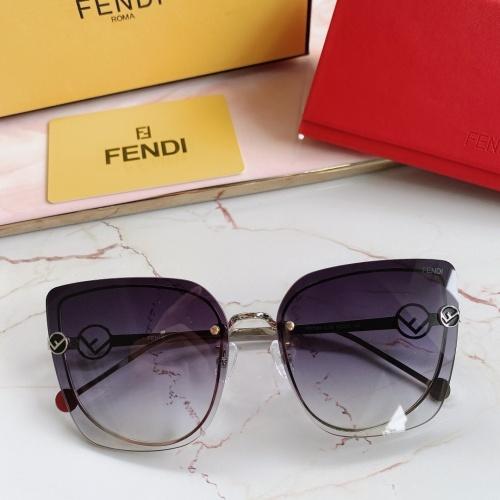 Fendi AAA Quality Sunglasses #867880 $48.00 USD, Wholesale Replica Fendi AAA Sunglasses