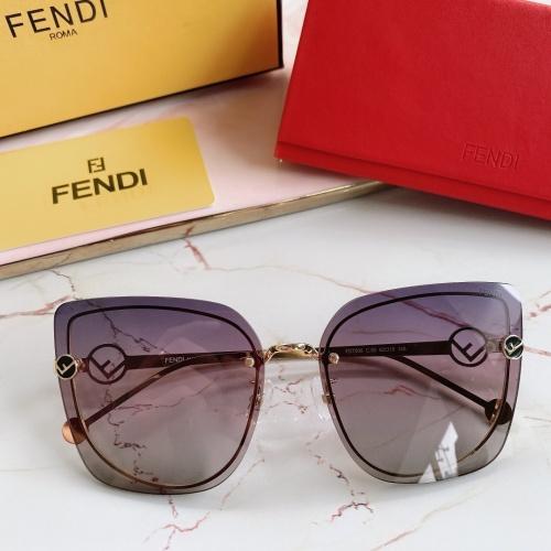 Fendi AAA Quality Sunglasses #867882 $48.00 USD, Wholesale Replica Fendi AAA Sunglasses