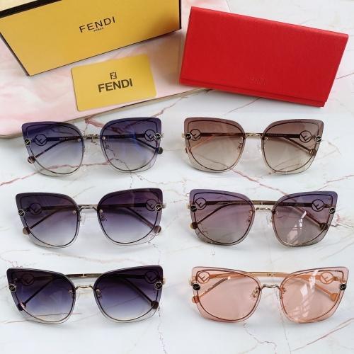 Replica Fendi AAA Quality Sunglasses #867882 $48.00 USD for Wholesale