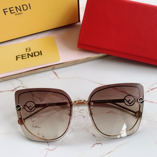 Fendi AAA Quality Sunglasses #867883 $48.00 USD, Wholesale Replica Fendi AAA Sunglasses