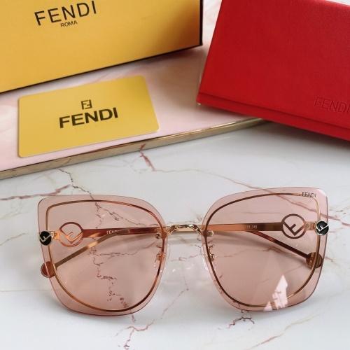 Fendi AAA Quality Sunglasses #867884 $48.00 USD, Wholesale Replica Fendi AAA Sunglasses