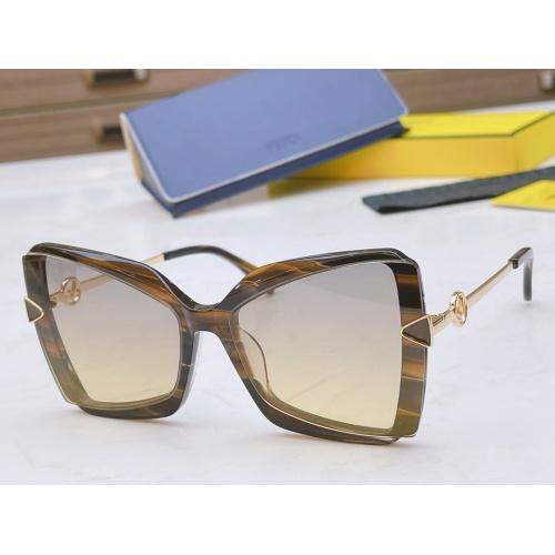 Fendi AAA Quality Sunglasses #867885 $50.00 USD, Wholesale Replica Fendi AAA Sunglasses