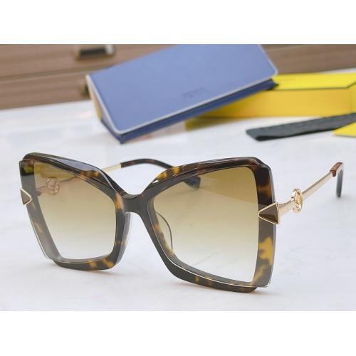 Fendi AAA Quality Sunglasses #867887 $50.00 USD, Wholesale Replica Fendi AAA Sunglasses