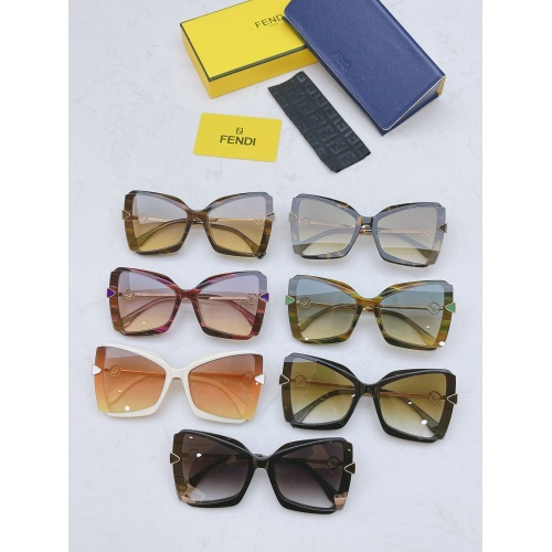 Replica Fendi AAA Quality Sunglasses #867887 $50.00 USD for Wholesale