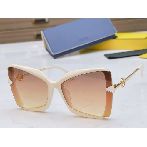 Fendi AAA Quality Sunglasses #867891 $50.00 USD, Wholesale Replica Fendi AAA Sunglasses