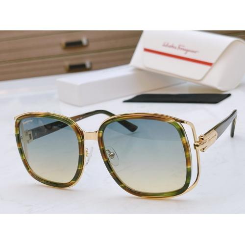 Ferragamo Salvatore FS AAA Quality Sunglasses #867943 $64.00 USD, Wholesale Replica Ferragamo AAA Quality Sunglasses