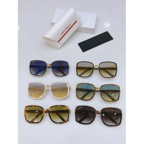 Replica Ferragamo Salvatore FS AAA Quality Sunglasses #867945 $64.00 USD for Wholesale