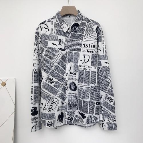 Christian Dior Shirts Long Sleeved For Men #868208