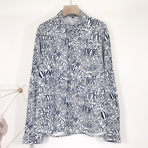 Christian Dior Shirts Long Sleeved For Men #868213