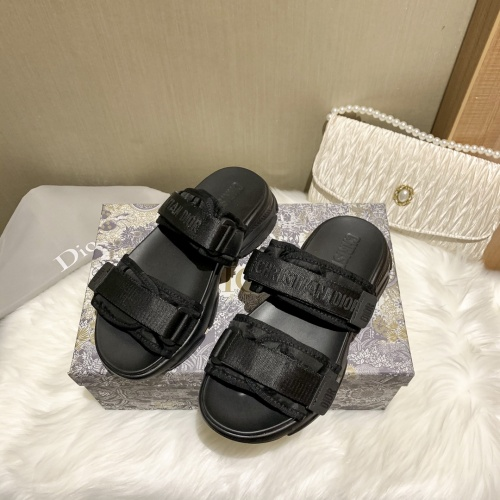 Christian Dior Slippers For Women #868385 $64.00 USD, Wholesale Replica Christian Dior Slippers