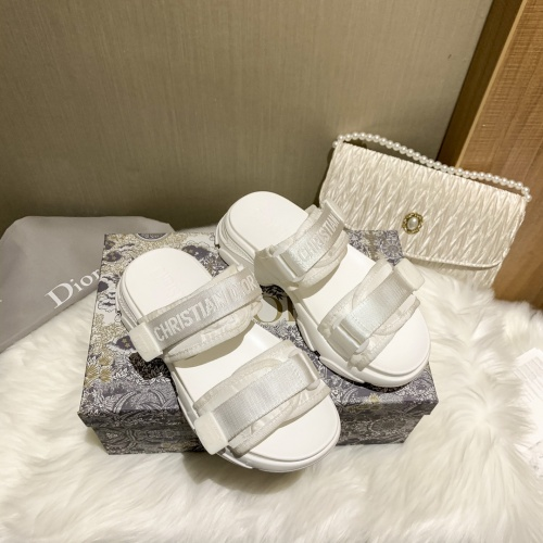 Christian Dior Slippers For Women #868386 $64.00 USD, Wholesale Replica Christian Dior Slippers