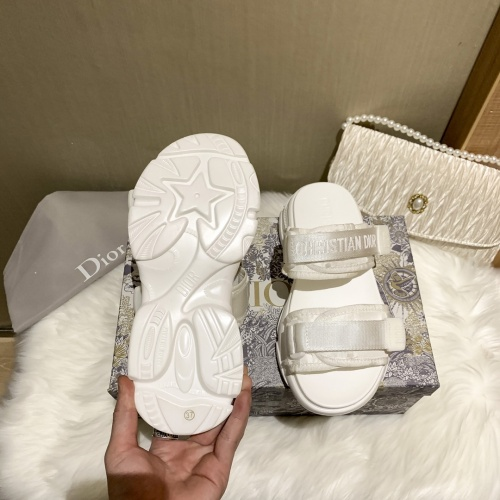 Replica Christian Dior Slippers For Women #868386 $64.00 USD for Wholesale