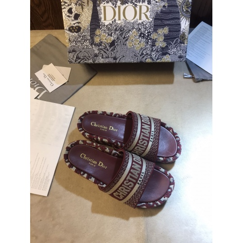 Replica Christian Dior Slippers For Women #868387 $64.00 USD for Wholesale