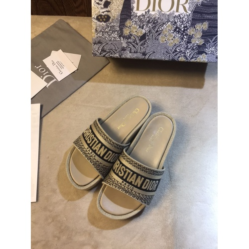 Christian Dior Slippers For Women #868389 $64.00 USD, Wholesale Replica Christian Dior Slippers