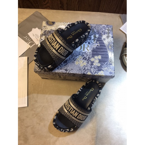Replica Christian Dior Slippers For Women #868390 $64.00 USD for Wholesale