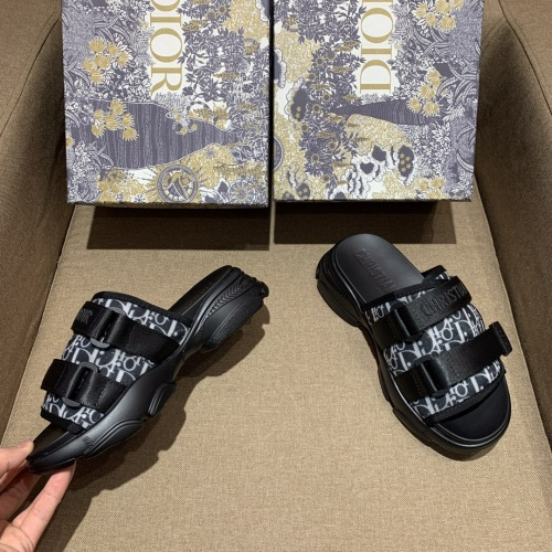Replica Christian Dior Slippers For Women #868391 $64.00 USD for Wholesale
