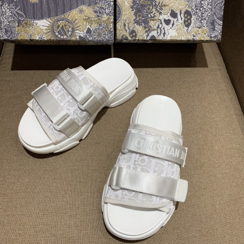 Christian Dior Slippers For Women #868392 $64.00 USD, Wholesale Replica Christian Dior Slippers