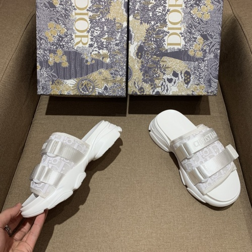 Replica Christian Dior Slippers For Women #868392 $64.00 USD for Wholesale