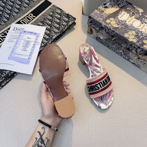 Replica Christian Dior Slippers For Women #868394 $56.00 USD for Wholesale