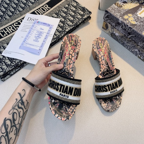 Replica Christian Dior Slippers For Women #868395 $56.00 USD for Wholesale
