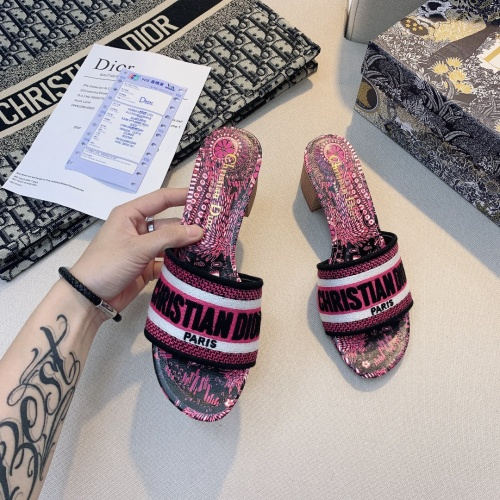 Replica Christian Dior Slippers For Women #868398 $56.00 USD for Wholesale