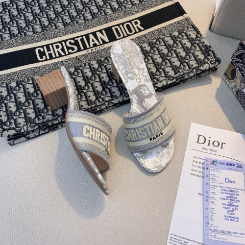 Replica Christian Dior Slippers For Women #868400 $56.00 USD for Wholesale