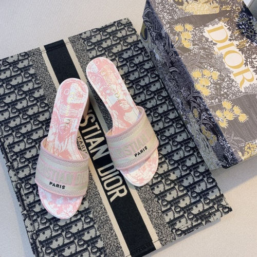 Replica Christian Dior Slippers For Women #868401 $56.00 USD for Wholesale