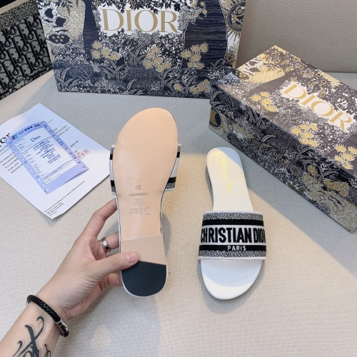 Replica Christian Dior Slippers For Women #868402 $48.00 USD for Wholesale
