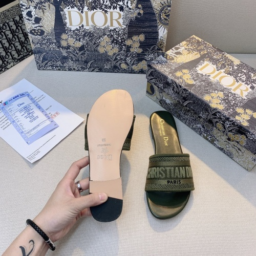 Replica Christian Dior Slippers For Women #868403 $48.00 USD for Wholesale
