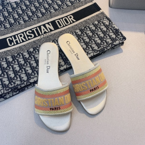 Replica Christian Dior Slippers For Women #868404 $48.00 USD for Wholesale