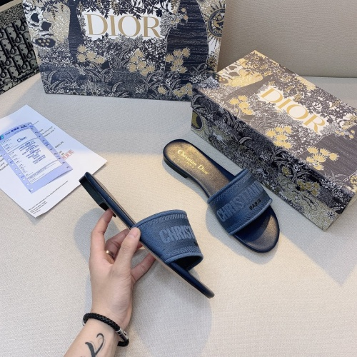 Replica Christian Dior Slippers For Women #868405 $48.00 USD for Wholesale