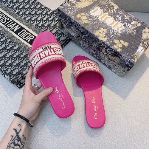 Replica Christian Dior Slippers For Women #868406 $48.00 USD for Wholesale