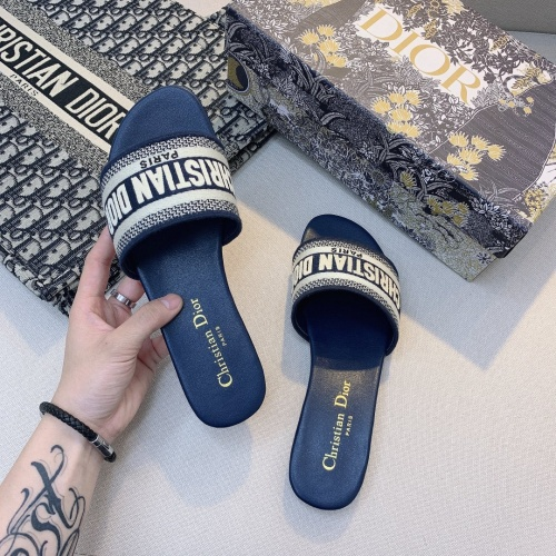 Replica Christian Dior Slippers For Women #868407 $48.00 USD for Wholesale