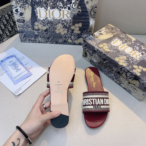 Replica Christian Dior Slippers For Women #868408 $48.00 USD for Wholesale
