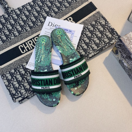 Replica Christian Dior Slippers For Women #868410 $48.00 USD for Wholesale