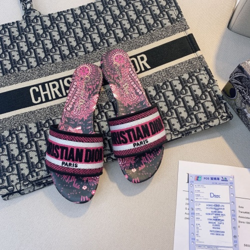 Replica Christian Dior Slippers For Women #868414 $48.00 USD for Wholesale