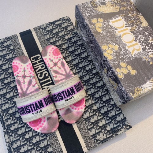 Replica Christian Dior Slippers For Women #868417 $48.00 USD for Wholesale