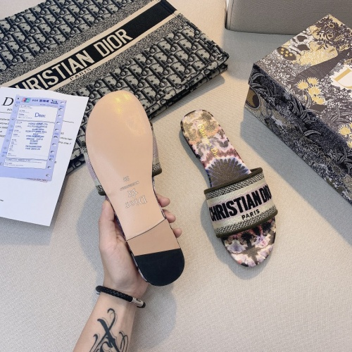 Replica Christian Dior Slippers For Women #868418 $48.00 USD for Wholesale