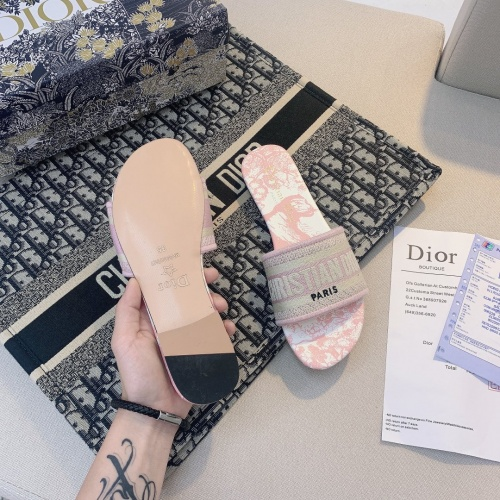 Replica Christian Dior Slippers For Women #868420 $48.00 USD for Wholesale