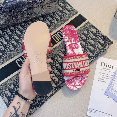 Replica Christian Dior Slippers For Women #868421 $48.00 USD for Wholesale
