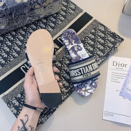 Replica Christian Dior Slippers For Women #868423 $48.00 USD for Wholesale