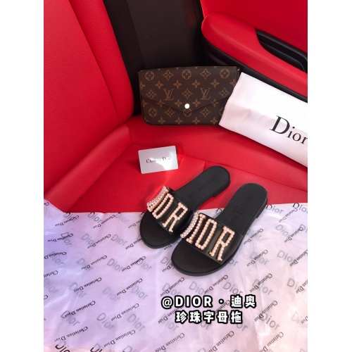 Christian Dior Slippers For Women #868424 $56.00 USD, Wholesale Replica Christian Dior Slippers